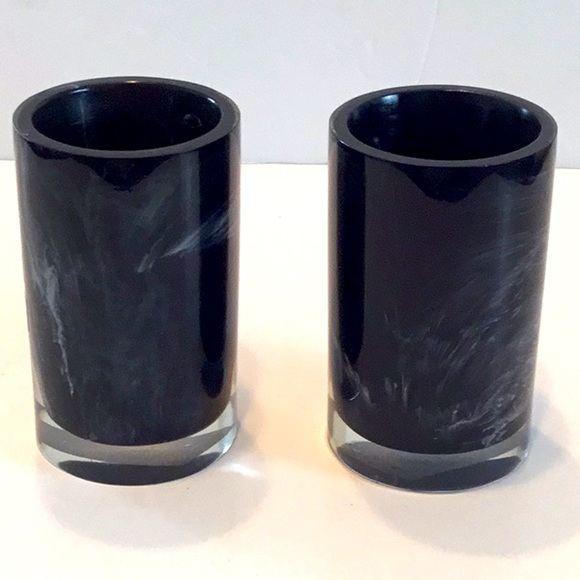 Kassatex Black Tumbler Set